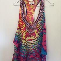 Camilla Franks Babylon Raceback Double Layer Silk Tank Top Kaftan Sz 1 Ex Cond Photo
