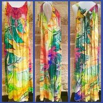Camilla Franks Birds of Paradise Silk Drawstring Kaftan Dress One Size Photo