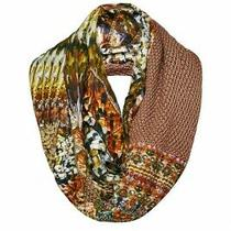 Camilla Franks Chameleon Double-Sided Long Loop Wool Printed Silk Scarf 329 Photo