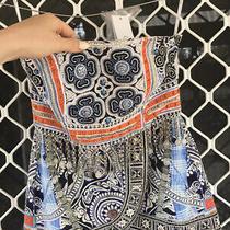 Camilla Franks Dress Up Box Embellished Peplum Silk Top Size Xs Small 4 Express Photo