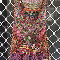 Camilla Franks Fiesta Chullo Crystal Embellished Silk Tank Top Blouse 4 Express Photo