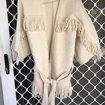 Camilla Franks Ivory Wool Cardigan Kimono Jacket Coat Size 2 Medium 4 Express Photo