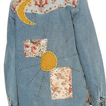 Camilla Franks Jeanne Queen Studded Denim Shirt Jacket Size 3 Large 4 Express Photo