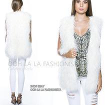 Camilla Franks Kaftan Designer  New Rp1299  Ivory Mongolian Fur Gilet Vest Photo