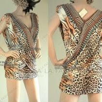 Camilla Franks Kaftan Designer Swarovski Jaguar Animal Print Mini Dress - Sale Photo