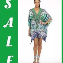 Camilla Franks  Land of Wonder Swarovski Silk Short Lace Up Kaftan Photo