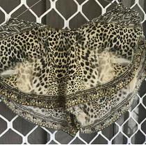 Camilla Franks Leopards Leap Silk Elastic Waist Shorts Size Xs Small 4 Express Photo