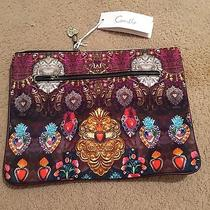 Camilla Franks Milagro Charm Large Canvas Clutch Sold Out Bnwt Photo