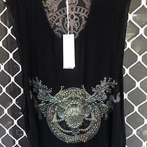 Camilla Franks Sacred Gate Black Embellished Tank Top Size 3 Large 4 Express Photo