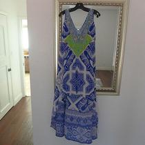 Camilla Franks Silk Dress High/low Beaded Blue & White Size 1 Gorgeous Photo