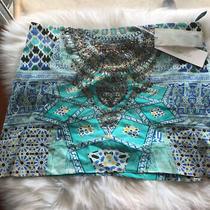 Camilla Franks Sultans Gate Embellished Silk Mini Skirt Size 2 Medium 4 Express Photo