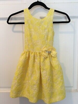 Camilla Girls Dress NWOT Sz 6  Yellow Brocade So Pretty!! $135 Photo