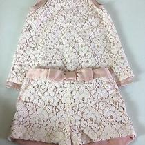 Camilla Girls Dressy Two Piece Outfit Pink Lace Size 5t Photo