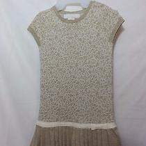Camilla Girls Knitted Gold Multi Pleated Holiday Dress  Size 4 Photo