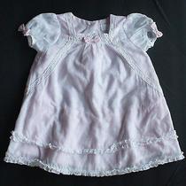 Camilla Girls Pink & White Dress Size 6-9 Months Mint Photo