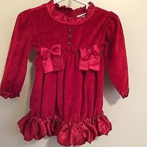 Camilla Holiday Infant Red Dress Size 12m Photo