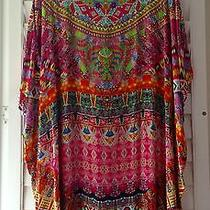 Camilla Kaftan Round Neck Beautiful Colours Beaded Fish Design Bnwot Photo