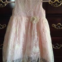 Camilla Lace Easter Spring Dress 4t Embroidered Lace Over 4 Layers Ln Photo