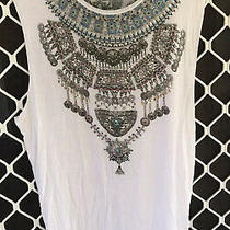 Camilla Loose Fit Top 4 Express Size 2 Medium Franks Embellished Tank White Tee Photo