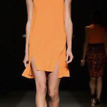 Camilla & Marc Orange Peel Ninth Wave Incut Sleeveless Dress Size 12 Photo