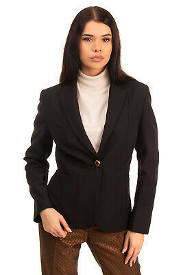 CAMILLA MILANO Blazer Jacket Size 40 / S Black Single Breasted Made in Italy Photo