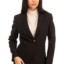 Camilla Milano Blazer Jacket Size 46 / Xl Black Single Breasted Made in Italy Photo