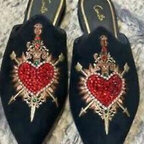 Camilla Mirror Mirror Embroidered Slippers Sz39 Photo