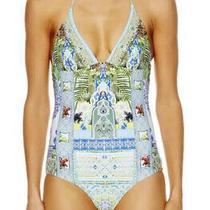 Camilla My Marjorelle Halter Swimsuit 4 Express Size 12 Medium 2 One Piece Blue Photo