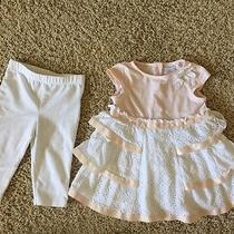 Camilla Outfit Baby Girl Size 18-24m 2 Piece Set Pink Eyelet Leggings Top Photo