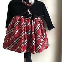 Camilla Plaid Holiday Dress 18 Months  Beautiful 3 Pieces Photo