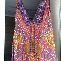 Camilla Poco v Neck Short Drawstring Dress 4 Express Franks Size 1 Small Beaded Photo