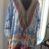 Camilla Short Lace Up Crystal Accent Kaftan Beautiful Photo