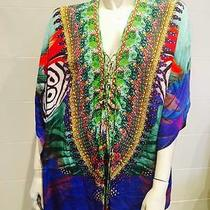 Camilla Silk  Lace Up Kaftan Photo