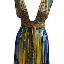 Camilla Size 2 Boho Soft Floaty Flowy Silk Designer Gypsy Party Occasion Dress  Photo