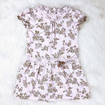 Camilla Size 4t Toddler Girls Pink Brown Floral Drop Waist Short Sleeve Dress Photo