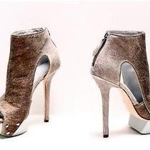 Camilla Skovgaard 'Antler' Spear Metallic Pony Platform Boots Booties Eu 39/us 9 Photo