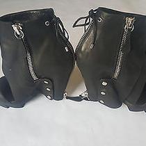 Camilla Skovgaard Back Zipper Matte Black Booties Size 39/8 Photo