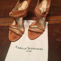 Camilla Skovgaard Barbero Race Sandal Natural Tan Stiletto 38.5 Made Italy W Bag Photo