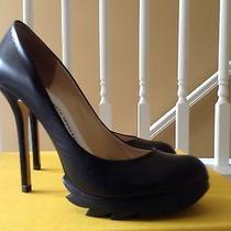 Camilla Skovgaard Black Leather Saw Pumps Size 39.5 Photo