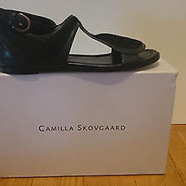 Camilla Skovgaard Black Mixed Media Flats sz.9 Photo