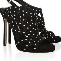 Camilla Skovgaard Black Studded Suede Sandals Sz 38 Photo