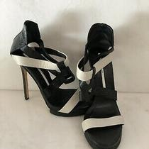 Camilla Skovgaard Black/white Platform Sandals Sz 38 Photo