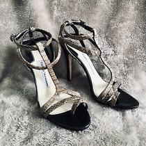 Camilla Skovgaard Brown Python Leather 'Victory' Heels W/toe Loop Black Sole 10 Photo