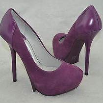 Camilla Skovgaard 'Cr12002' Women's Purple Suede/leather Platform Pump Size 5 M  Photo