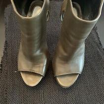 Camilla Skovgaard Cutout Platform Booties Ladies 36/ 6 Green Zip Pumps Shoes Photo