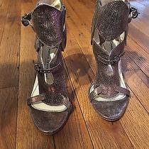 Camilla Skovgaard Heels Snake Skin Style Bronze Iridescent Color Sz 6 Photo