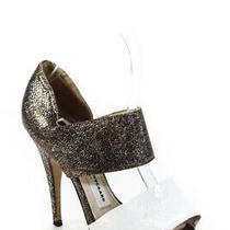 Camilla Skovgaard Womens Leather Sandal Heels Gold White Size 36 6 Ll19ll Photo