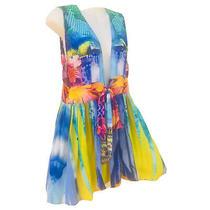 Camilla - Stunning Short Silk Dress With Crystals Photo