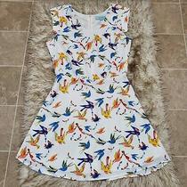 Camilla Tree Multicolored Birds Print Sleeveless Dress Sz S Photo