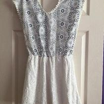Camilla Tree White and Navy Blue Dress Size Small Photo